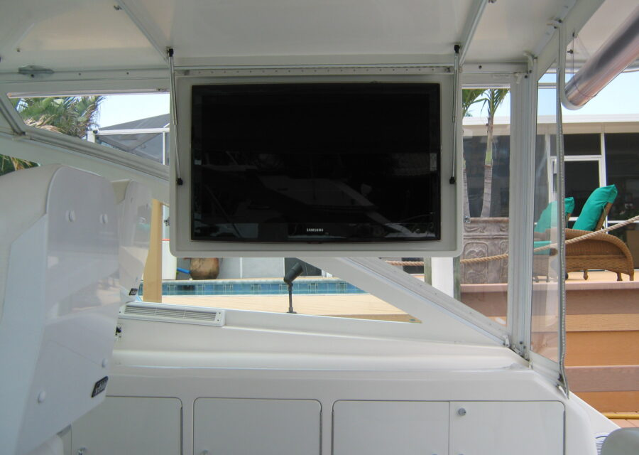 Fiberglass outside tv case
