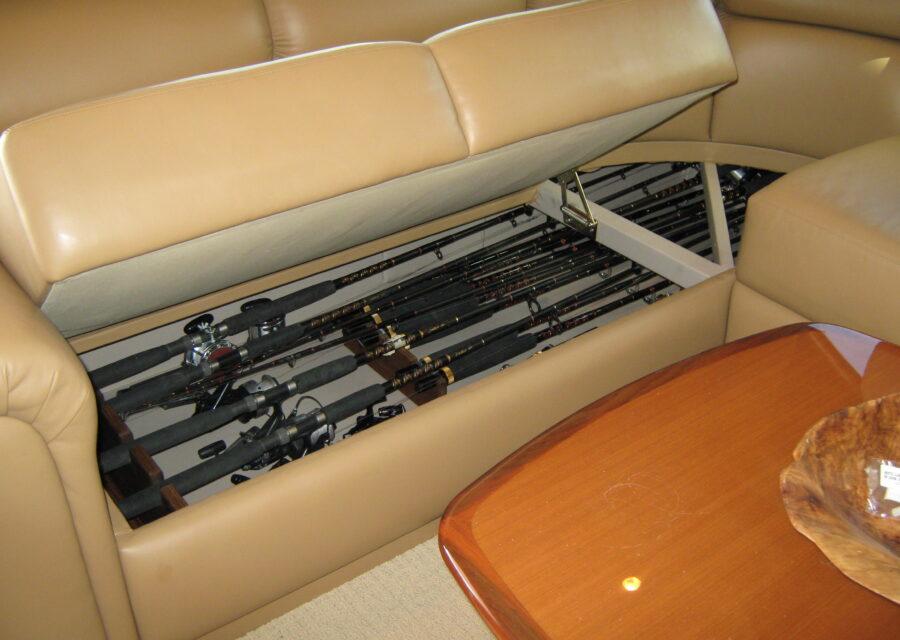 rod storage under sofa
