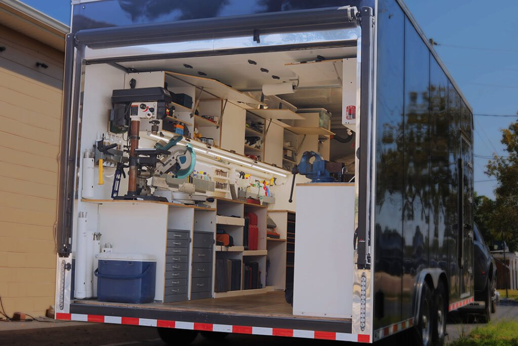 trailer outside
